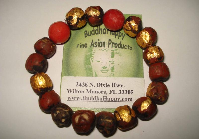 Red Quartze Hand Roll Buddha Beads 10mm