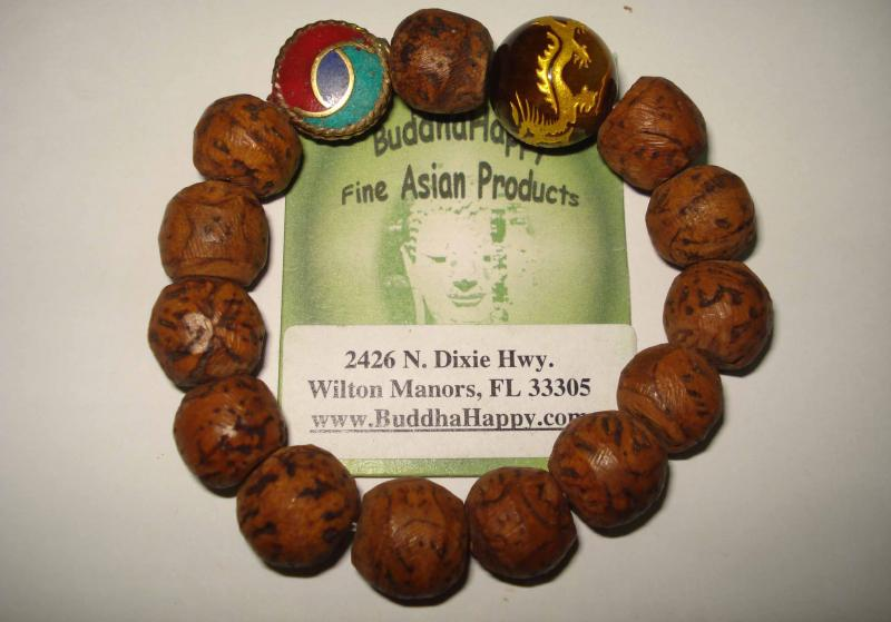 Om Tiger Eye Lotus Root Beads 12mm