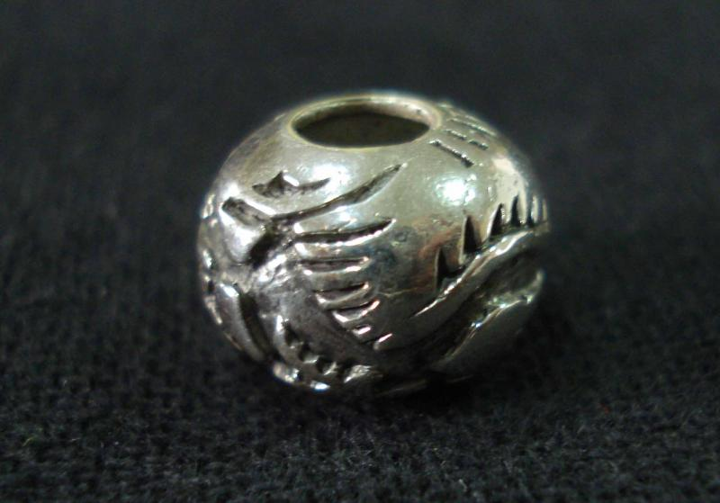 Dragon silver bead size 12 mm