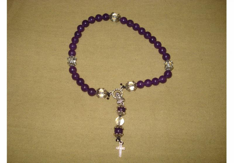 Amethyst Crystal & Cross 8 in