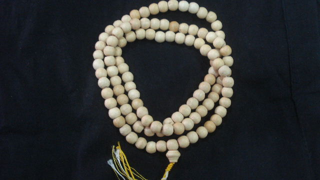 White Ivory wood Bead