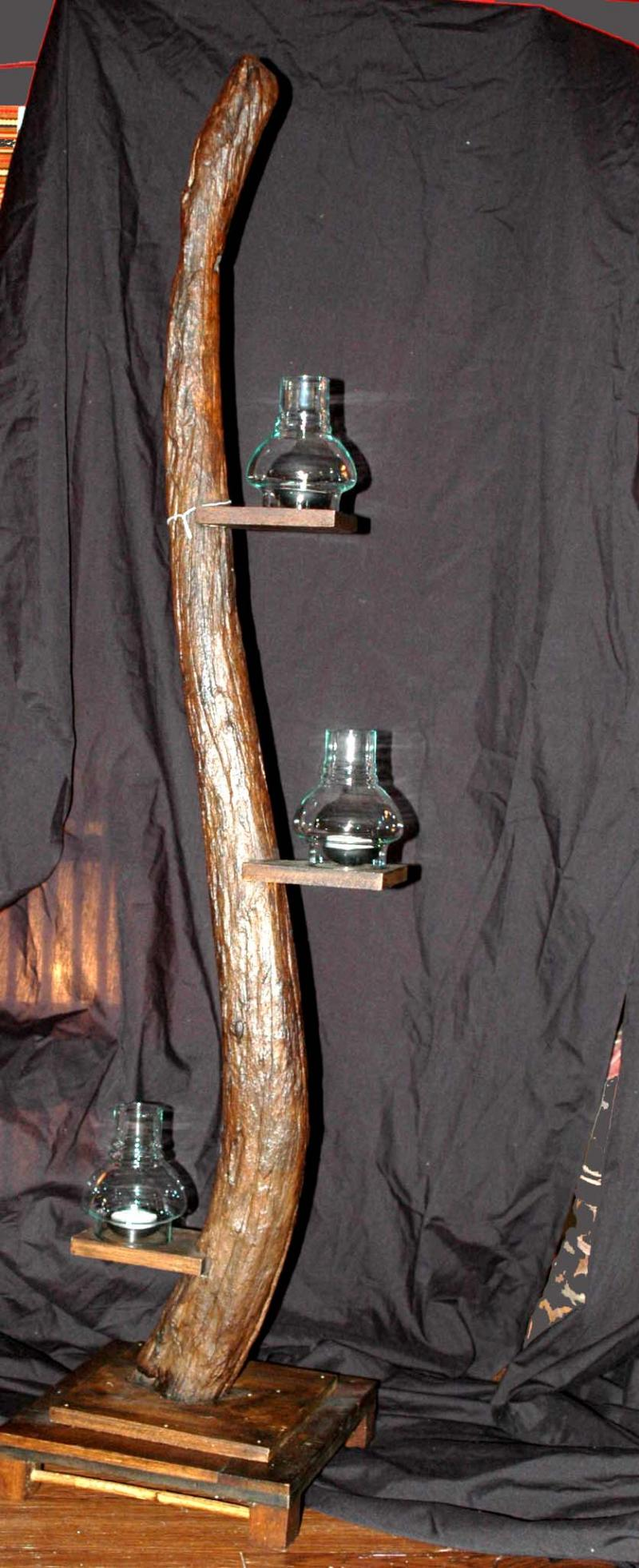3' Wood Candle Stand